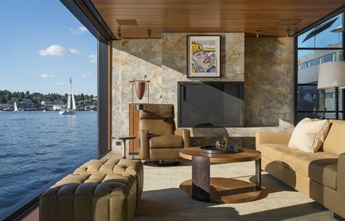 Custom Houseboat on Lake Union