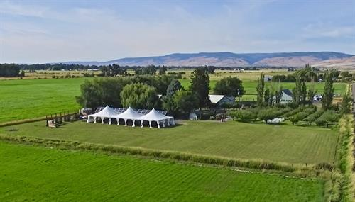Arial of Brightside Vintage Farm
