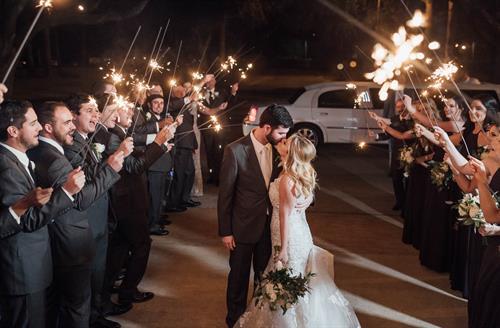Wedding Reception - Sparkler Exit
