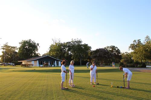 Croquet on the Back Lawn