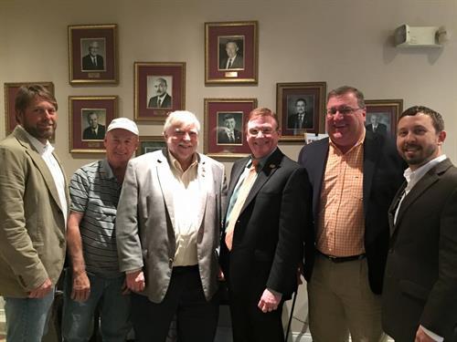 Rob Hamilton along with members of LHBA & NAHB meeting with Senator Graves.