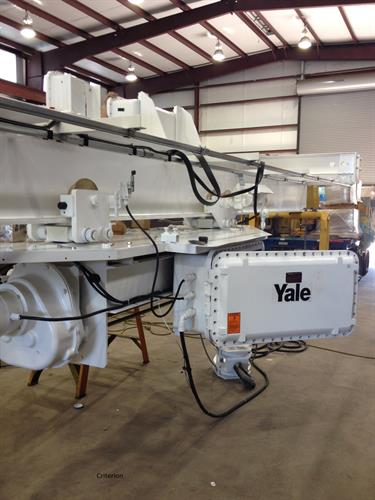 Mfg. this crane for a local chemical company