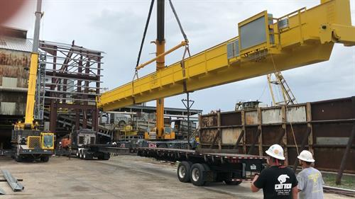 Mfg. a 50 ton at a 97 ft. span for local sugar mill