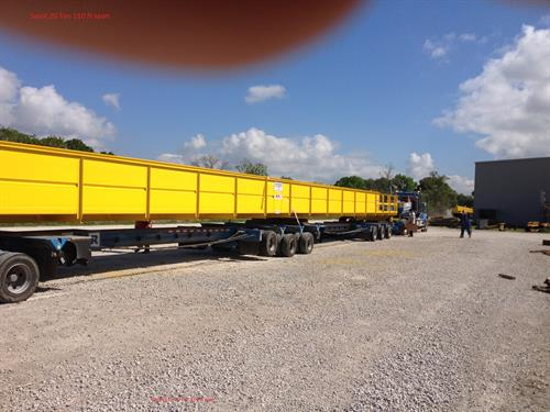 Mfg. this large explosion proof 20 ton and 10 ton at 114 ft. span for a LNG plant