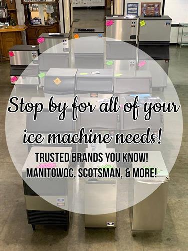 All brands of ice machines and we install and service