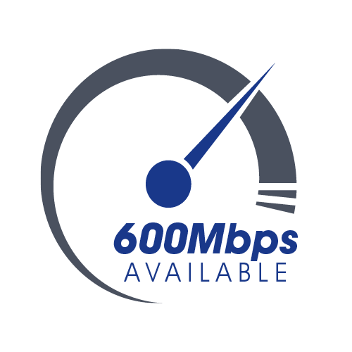 Internet speeds up to 600Mbps