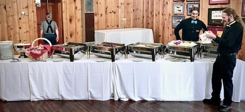 Buffets prepared by Chef Tim , carefully and beautifully set up by the Staff are gourmet quality.