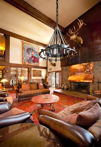 The Lobby at The Lodge Resort & Spa in Cloudcroft