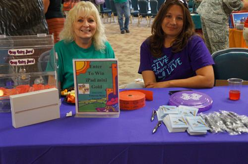 Felicia and Phyllis at Holloman Big Give 2015.