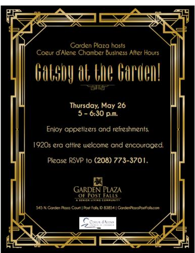 Gatsby In The Garden May 26 2016 Post Falls Chamber Of Commerce Id