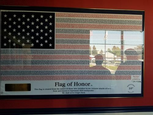 American Legion Flag of Honor ~ names of all who lost their lives on 9-11