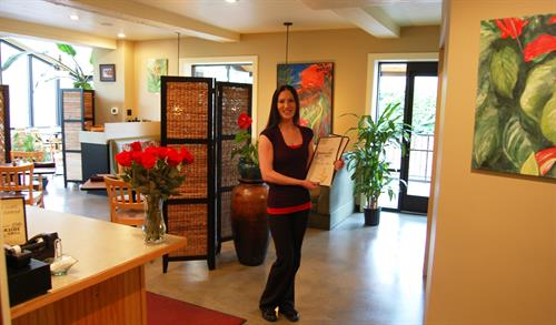 Welcome to Creekside Grill, with Beth, who has served our community & visitors since day one.