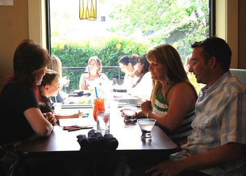 Indoor or outdoor dining?  Our family friendly seating has room for you, lunch or dinner.  Open daily.
