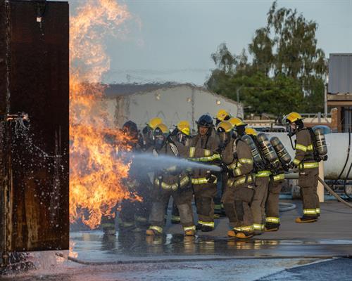 Chemeketa Fire Fighting Students