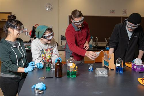 Chemistry students at Chemeketa