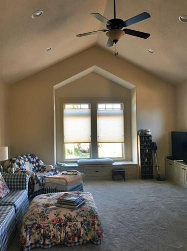 Top Down Bottom up shades allow light from above while still providing privacy.