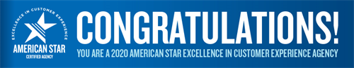 2020 American Star Excellence in customer experience agency