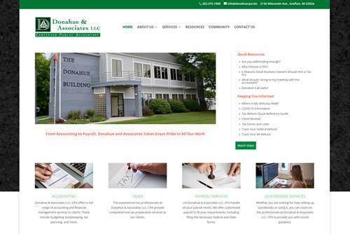 Website I created for Donahue & Associates