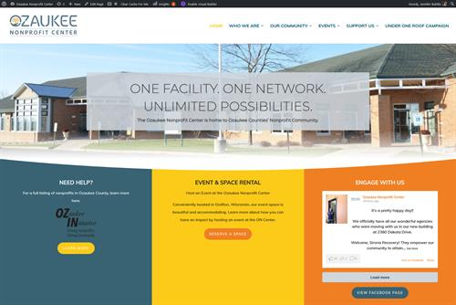 Website I created for Ozaukee Nonprofit Center
