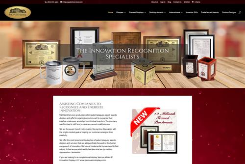 Website I created for US Patent Services in Grafton
