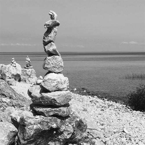 Cairns found along the Mackinac Island Bike Trail