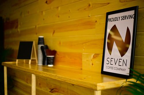 Proudly serving NSEVEN coffee!