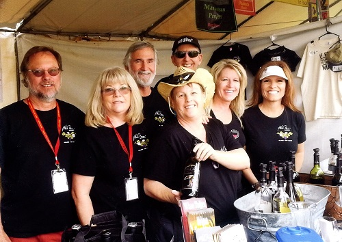 We attend many state wide wine festivals.