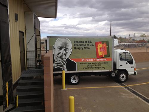 One of Five Food Depot Trucks