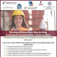 Woman/Minorities Becoming Licensed Construction Contractors
