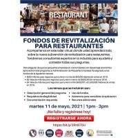 Fondos de Revitalización para Restaurantes