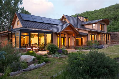 Strawbale & Timberframe Residence