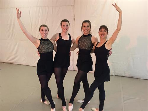 Advanced ballet dancers from our 2018 dance performance.