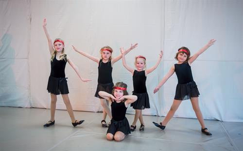 Kids Tap dancers from our 2018 Spring dance performance.