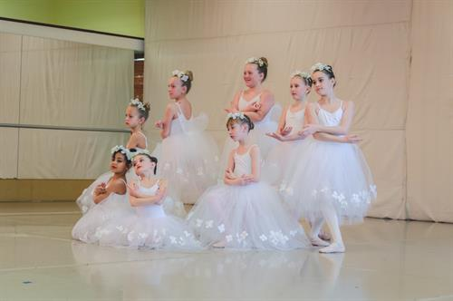 Les Sylphides dancers from our 2018 Spring dance performance.