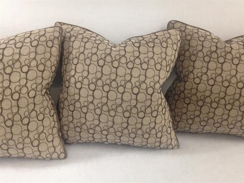Pillows. Horsehair embroidered on linen
