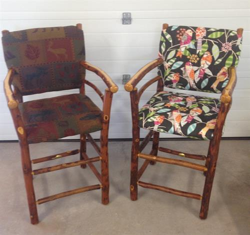 Before/After Old Hickory barstools