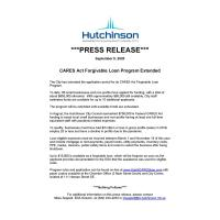 News Release: 9/9/2020