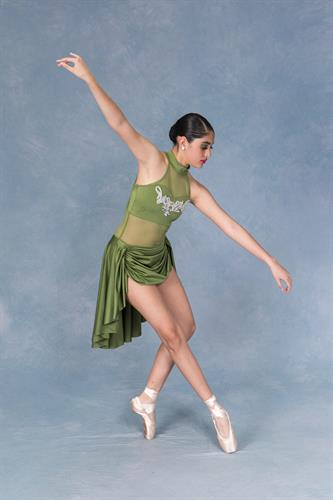 Brisa A. (6 year student, acceptance to be Ballet Trainee with Joffrey Ballet and accepted into 5 week summer intensive in Russia at the Bolshoi Ballet Academy)