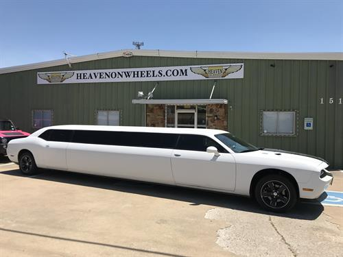 White Challenger Limo Dallas Heaven On Wheels