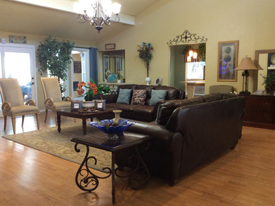 Beautiful living room in nearby senior care home