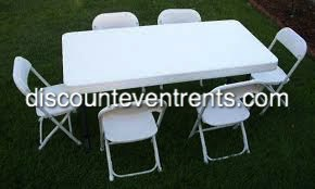 Table & Chair Rental