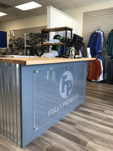 New Front counter.