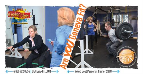 Geneva Fit voted Best Personal Trainer in Kane County