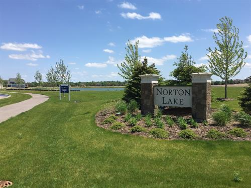 Norton Lake Subdivision Entrance - Fox Mill & Norton Lake Drive