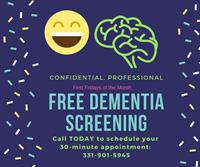 News Release: FREE Confidential and Professional Dementia Screening at Trinity Advocacy Group