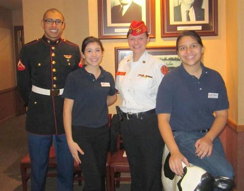 Employees help kick off the Toys For Tots: Meet a Marine event in December!