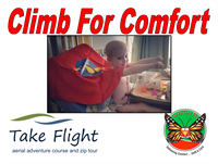Climb for Comfort- Take Flight Adventures and Lucy's Love Bus