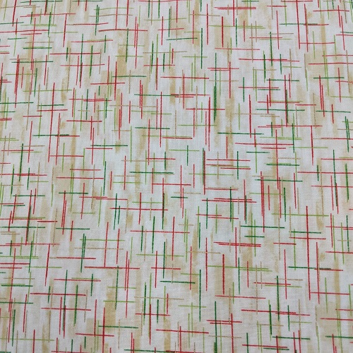 """Peppermint Brittle"" Tightly Woven 100% High Quality Cotton, Red, Green, Gold without Sparkle"