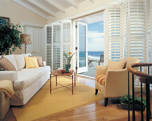 Bifold and bypass shutters by Hunter Douglas