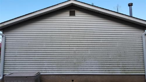 Garage Side Before Pressure Washing